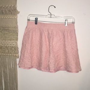 Baby Pink Lace Skirt